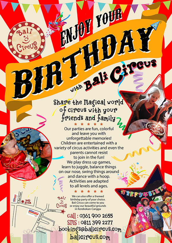 Bali Circus Birthday Promotion
